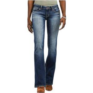BKE Stella Bootcut Stretch Jeans Dark Distressed